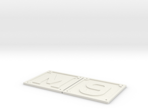 1.5 inch scale M6/9 front buffer beam numbers in White Natural Versatile Plastic