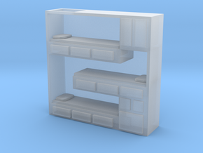 HO Scale Stacked Bunks in Smooth Fine Detail Plastic