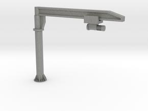 O Scale Column Jib Crane #1 in Gray PA12