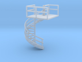 N Gauge Fire Escape DC in Smooth Fine Detail Plastic