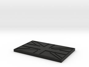 UK Patch (Velcro) in Black Natural Versatile Plastic