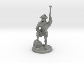 Orc Pirate with Gun on 28 MM base in Gray PA12