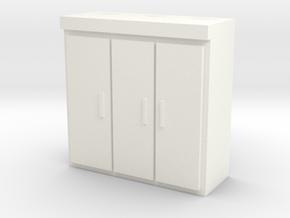 HO Scale Lab Refrigeration Unit in White Processed Versatile Plastic