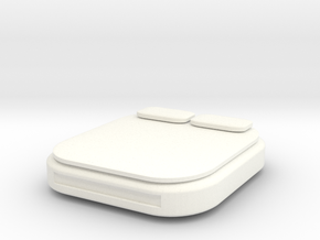 HO Scale King Bed in White Processed Versatile Plastic