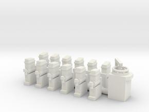 Mandelbrenner und Doppelslush 1:87 (H0 scale) in White Natural Versatile Plastic