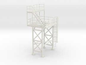 1/50th Cement concrete batch plant tower in White Natural Versatile Plastic