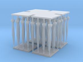 1/48 O Scale Umbrellas for Diorama in Smooth Fine Detail Plastic