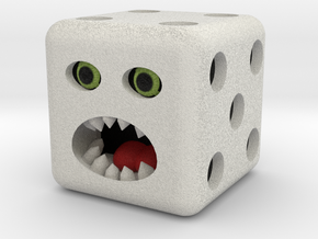 Dice monster test in Natural Full Color Sandstone
