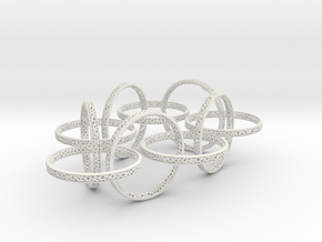 Ten hoop voronoi bracelet 7.5 inches approximately in White Natural Versatile Plastic