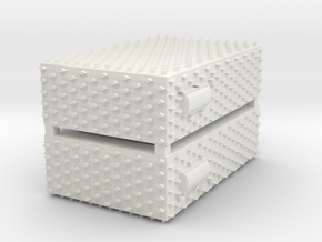 1/87 Pierce Diamond Plate AC Units in White Natural Versatile Plastic