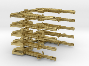 CAR15 SMG SET10 in Natural Brass