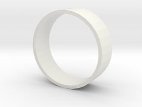 GoldRing in White Natural Versatile Plastic
