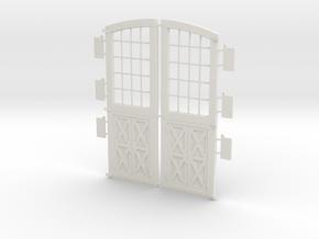 Personnel Doors DSP&P Gunnison Roundhouse in White Natural Versatile Plastic