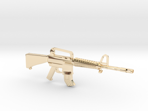 M16A2 v1 in 14K Yellow Gold