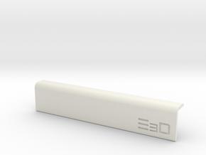 Round Edge Wrist Saver for Desk (100mm Long) in White Natural Versatile Plastic