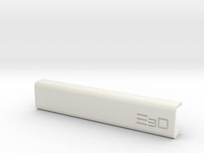 Clip On Round Edge Wrist Saver for 16mm Thick Desk in White Natural Versatile Plastic