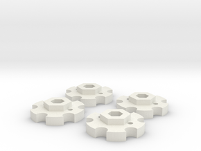 NutLockers for Jconcepts Tribute Wheels (for 7mm) in White Natural Versatile Plastic