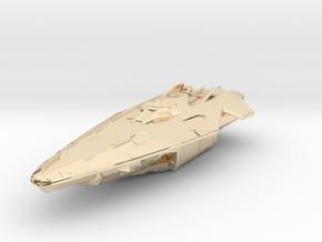 Anaconda: Elite Dangerous in 14k Gold Plated Brass: 1:2000