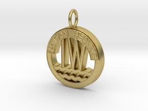 Inland Waterways Pendant in Natural Brass