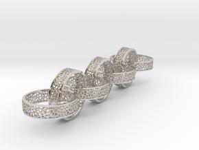 7 4mm voronoi ring in Platinum