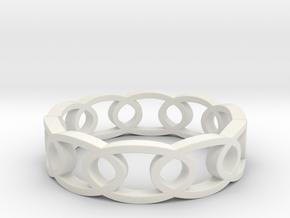 Oval_20 in White Natural Versatile Plastic