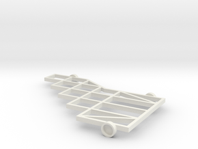 1/64 (s scale) 10 Platform Plow Mainframe in White Natural Versatile Plastic