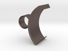 Spout Ring in Polished Bronzed-Silver Steel