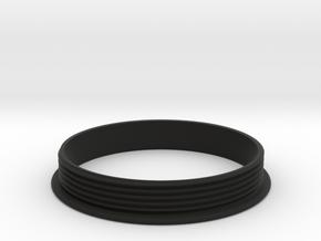 Distance Bracelet : Part 3  in Black Premium Versatile Plastic