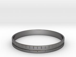 Distance Bracelet : Part 1 in Polished Nickel Steel