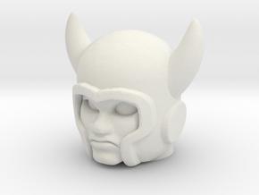 Deevil / Ork Head - Multiscale in White Natural Versatile Plastic: Medium