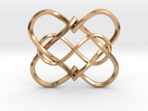 2 Hearts Infinity Pendant in Polished Bronze