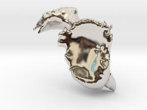 Scapula-Bone in Rhodium Plated Brass