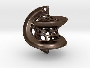 Hexasphericon Pendant in Polished Bronze Steel