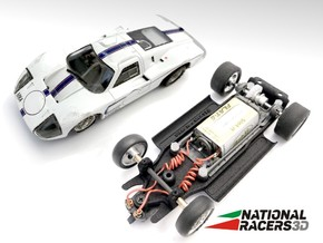 3D Chassis - MRRC Ford GT40 MK4 (Inline) in Black Natural Versatile Plastic