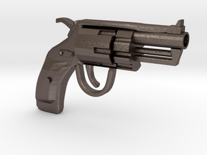 Revolver SUBNOSE in Polished Bronzed-Silver Steel