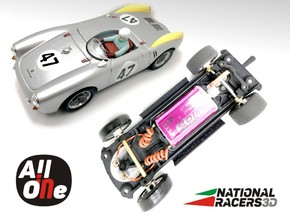 Chassis-Revell Porsche 550 Spyder (Inline AiO) in Black Natural Versatile Plastic