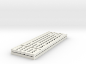 "Sci-Fi Walkway Internal Panel (Type A) 1/12 6"" in White Natural Versatile Plastic"