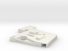 Headquaters Papa SAC Air Base 1:1250 scale in White Natural Versatile Plastic