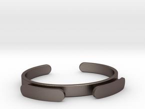 the original myband - Hair Tie Bracelet in Polished Bronzed-Silver Steel