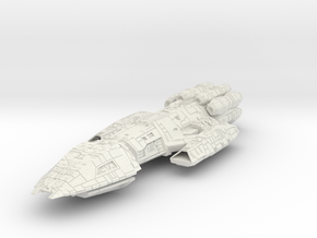 Battlestar Crusier in White Natural Versatile Plastic