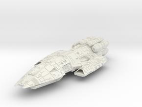 Battlestar LtCrusier in White Natural Versatile Plastic