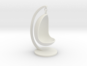 Egg shaped swing chair in White Natural Versatile Plastic