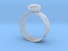 GoldRing Heart version2 in Smooth Fine Detail Plastic