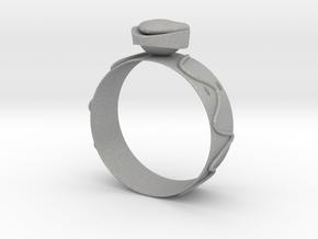 GoldRing Heart version2 in Aluminum