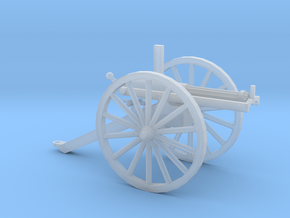 1/87 Scale Civil War Gatling Battery Gun in Smooth Fine Detail Plastic