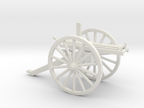 1/72 Scale Civil War Gatling Battery Gun in White Natural Versatile Plastic