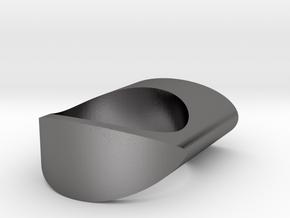 Spike Ring in Polished Nickel Steel: 8.5 / 58