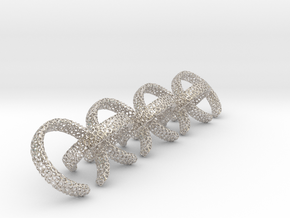 8 voronoi rings in Rhodium Plated Brass