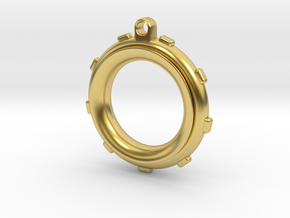 Knot-Aide Fishing Ring in Polished Brass (Interlocking Parts): Extra Small