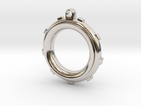 Knot-Aide Fishing Ring in Rhodium Plated Brass: Extra Small